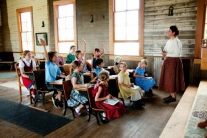 Teaching in the Pioneer Schoolhouse.