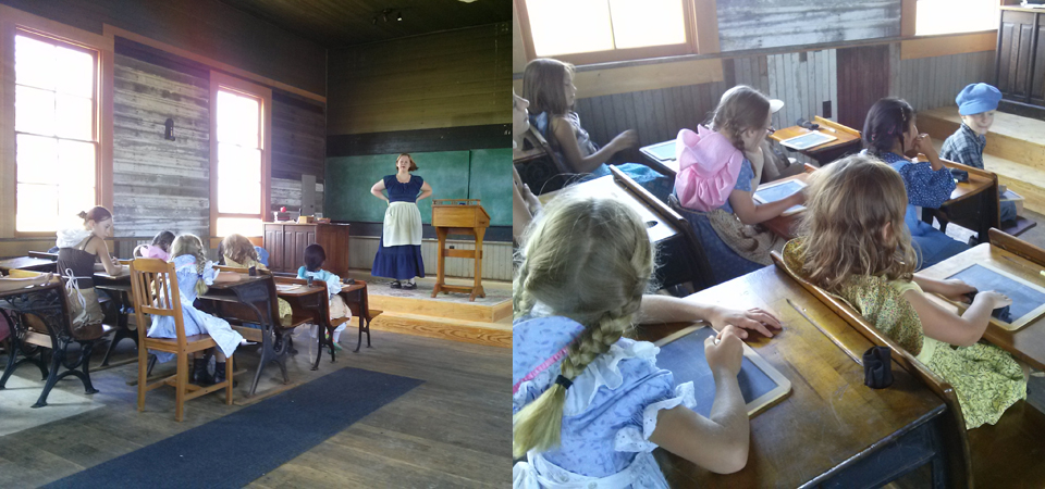 pioneer school with kids