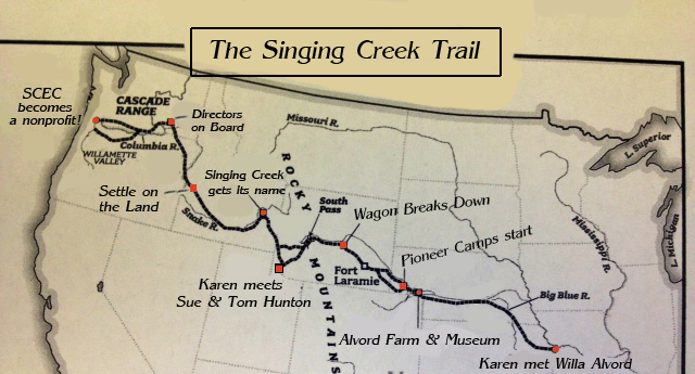 The Singing Creek Trail Map