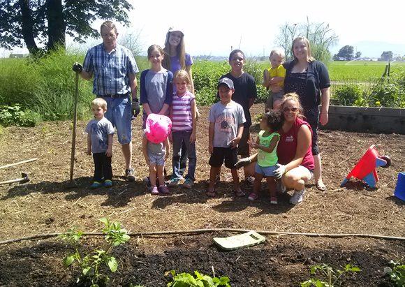 gardening kids singing creek center oregon pioneer
