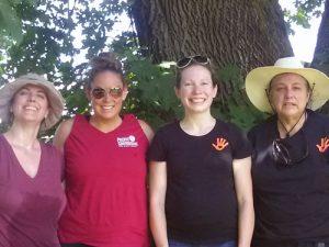 Singing Creek Center Karen with sponsors pioneer garden day