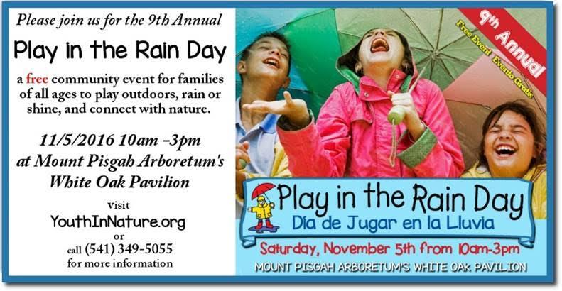 play in the rain day mount pisgah arboretum