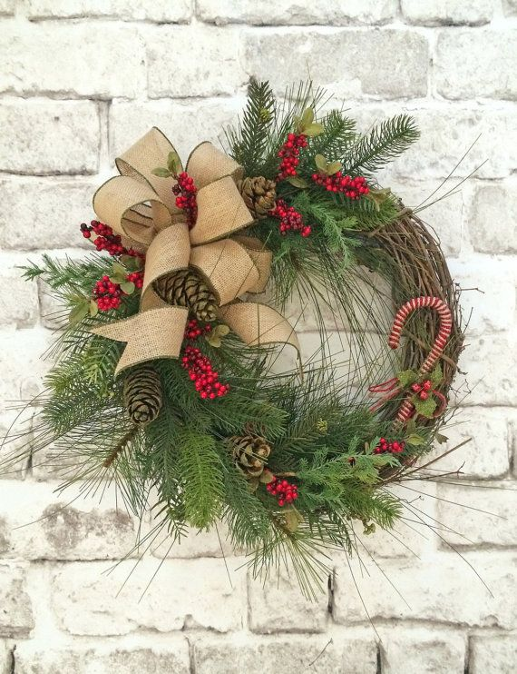 Homestead arts class winter wreath making - Admirable christmas wreath decorating ideas to welcome the december ...