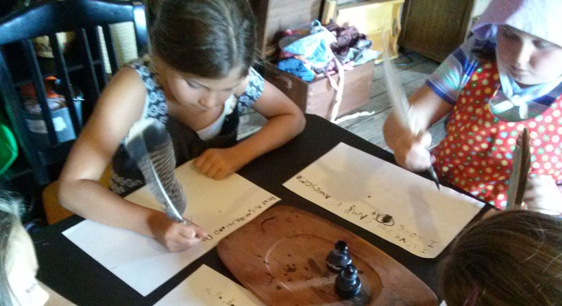 Pioneer Letter Writing at Summer Camps