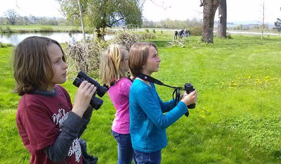 birding on the farm kids children nature singing creek center