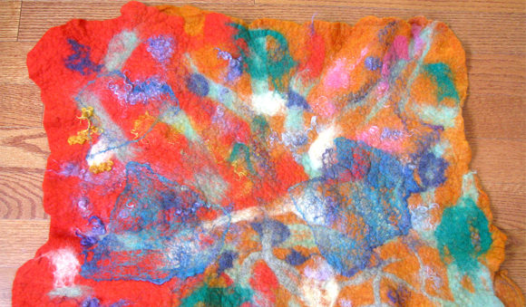 felted placemat homestead arts crafts children singing creek center