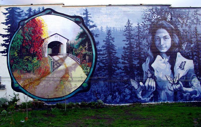 opal whiteley mural cottage grove oregon