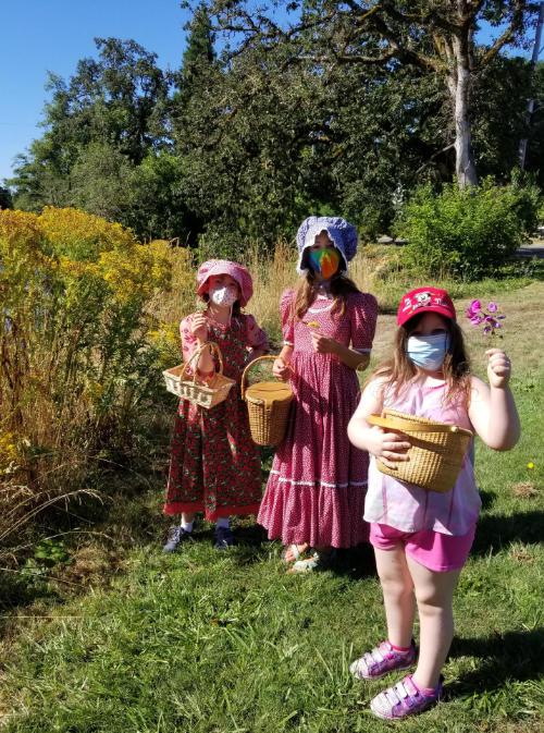 kids in park w masks pioneer summer camp